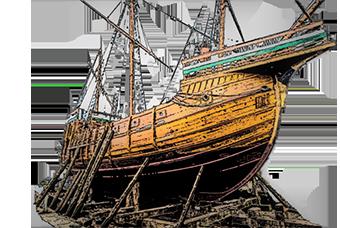 Średniowieczne plany okręt handlowy statek handlowy