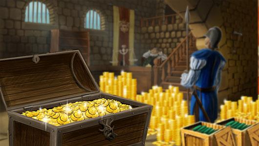 Schatzkammer im online Handelsspiel