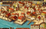 typical town view of free browser game venetians